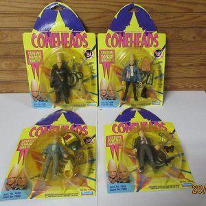 Vintage 1993 SNL Coneheads Figures  x 4 NRFP